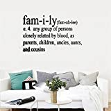 Wandaufkleber Schlafzimmer Vinyl Decal Quote Art Wall Sticker Mirror Decal Family Definition Any Group Of Persons Closely Related By Blood As Parents Children Uncles Aunts And Cousins For Living Room