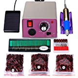 25,000 rpm Professional Electric Nail Drill File Kit, Finger Toe Nail Care Manicure
