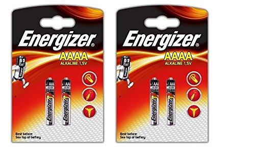 4Energizer AAAA/E96/LR61batteria batteria alcalino, lunga durata di conservazione (Data di scadenza segnato)