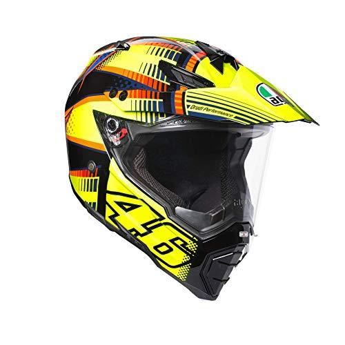 AGV casco da motociclista AX 8Dual Evo E05Top 2015, Sole Luna Giallo 2015, taglia L