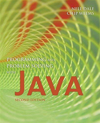 Programming and Problem Solving with Java by Nell Dale Chip Weems(2007-05-11) Java Chip