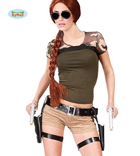 doppelter Pistolen Holster Gürtel für Damen (Pistole Holster Kostüme Zubehör)