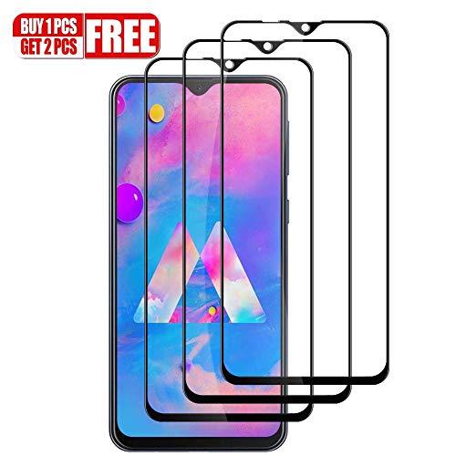 Hanbee [3-Pack Pellicola Vetro Temperato Samsung Galaxy M20, Pellicola Protettiva Samsung Galaxy M20, 3D Copertura Completa, HD Trasparenza,Anti-Graffi Pellicola per Samsung Galaxy M20