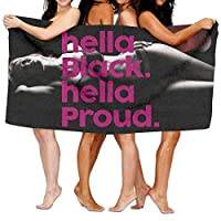 vbndfghjd Hella Black Hella Proud 100% Polyester Velvet Absorbent Washcloths 31 X 51 Inches