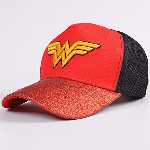 hcoser Wonder Woman Logo Hats Baseball Caps Topee für Erwachsene Kostüm Cosplay