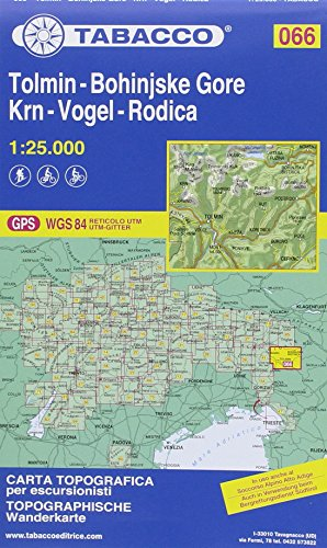 Tolmin, Bohinjske, Gore, Krn, Vogel, Rodica 1:25.000. Ediz. multilingue (Carte topografiche per escursionisti) por Collectif