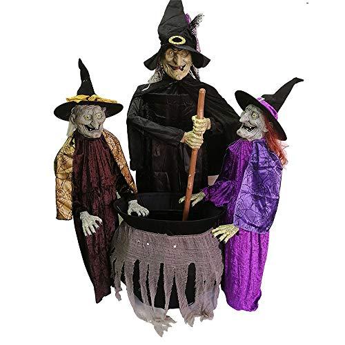 Zyjfp halloween tre streghe mescolare pendolo fantasma, voce controllata ghost mento elettrico aperto bar ghost room atmosfera layout puntelli (165 * 110 * 65cm)