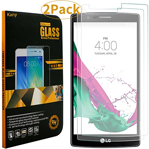 Screen Protector for LG G4,Kany 2 pack 0.25mm Ultra-thin Tempered Glass Crystal Clear LCD Screen Protector for LG with 9H Hardness(LG G4) Test