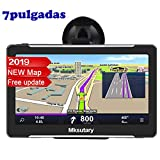 Mksutary GPS De Coche, Navigation Pantalla, LCD Capacitiva Táctil , RAM 126, ROM 8GB GPS  Actualizaciones De Mapas De Por Vida