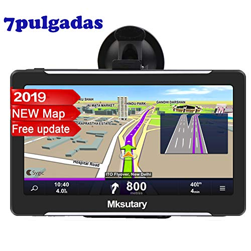 Mksutary GPS De Coche, Navigation Pantalla, LCD Capacitiva Táctil De 7pulgadas, RAM 256Mb, ROM 8GB GPS Actualizaciones De Mapas De Por Vida