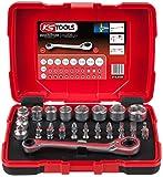 KS Tools 918.3050 1/4' + 11 mm Durchgangs-Steckschlüssel- und Bit-Satz, 31-teilig,...