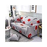 WUFANGFF Slipcover Modello Labbra Rosse Divano Tessuto Fodera per Divano Copridivano Sofa Furniture Protector, 3seat