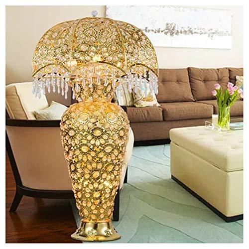 PANGU-ZC Lámpara de pie - Nuevo jarrón de Oro Lámpara de pie de Cristal Decoración de la Sala Lámpara de Mesa Lámpara de pie Club de Lujo Iluminación - lámpara de Piso