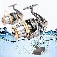 FGKING Más Pesca de Tiro Largo, Spinning Reel 12 + 1 sin Tapa Inoxidable para Agua Salada o Agua Dulce