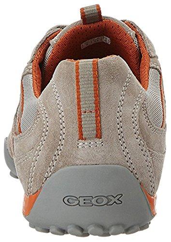 Geox Herren U Snake S Sneaker Grau/Orange