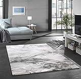 Merinos Marmorteppich mit Glanzfasern in Grau Größe 120x170 cm