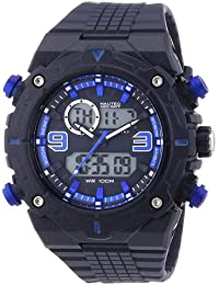 Nautec No Limit Herren-Armbanduhr XL Sprint AD Analog - Digital Quarz Plastik SP QZ-AD/PCBLPCBLBL-BL
