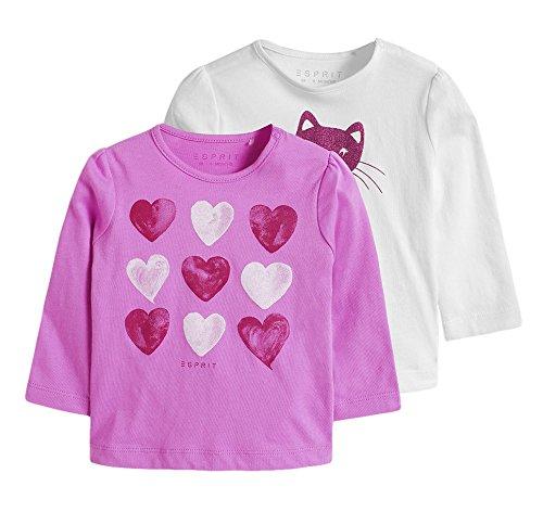 Esprit Baby - Mädchen Langarmshirt  095EEAN003,  2er Pack Gr. 92