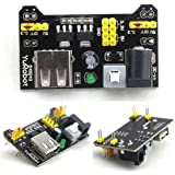 DIY Retails 3.3V and 5V Power Supply Module for MB102 Bread Board Arduino Raspberry Pi, Black