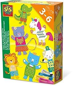 SES Creative Aprendo a Bordar Figuras - Kits de Manualidades para niños (Kid de Costura para niños, Aguja de Coser, Lana, Niño/niña, 3 año(s), Niño, 6 año(s))