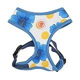 Pinkaholic New York NAQA-AC7218 Hunde Geschirr, Peonies Harness, Medium, blau