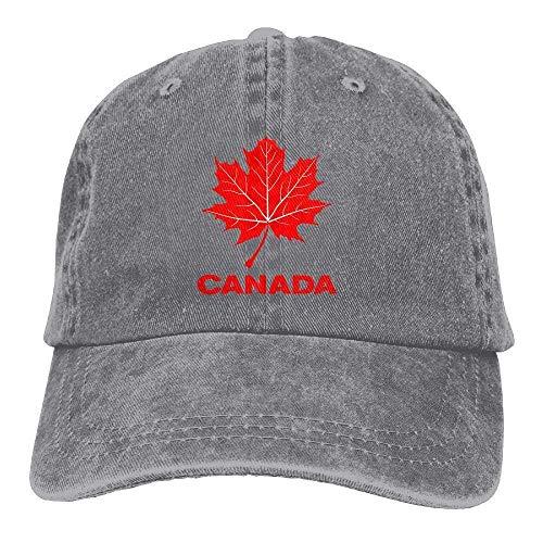 Canada Souvenir Maple Leaf Stylish Baseball Caps Denim Adjustable Hats