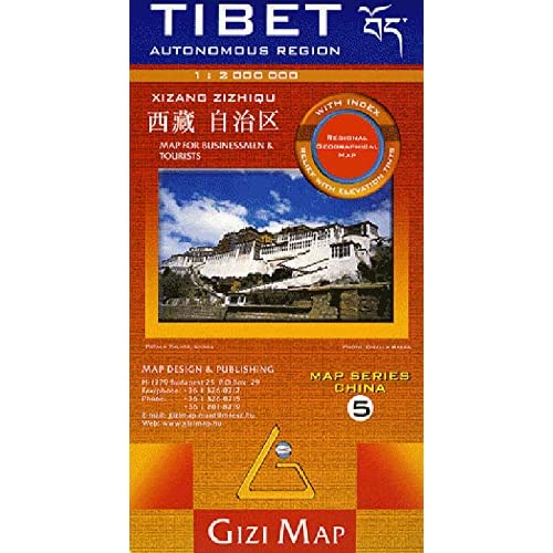 Map for Businessmen and Tourists : Tibet