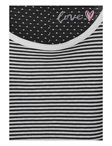 Street One Damen T-Shirt 311444 Schwarz (Black 20001)
