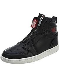 ab127128ba Nike Scarpe Donna Sneaker Air Jordan 1 Hi Zip Premium in Pelle Nera  AT0575-006