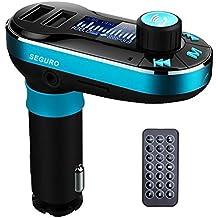 Seguro Kit de coche Bluetooth Reproductor de MP3FM transmisor manos libres Car Kit–Cargador de coche compatible con tarjetas SD/USB