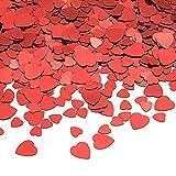 TUPARKA 80g Cuore Rosso Confetti da tavola PVC Cuore Rosso Scintilla coriandoli per Matrimonio/San Valentino