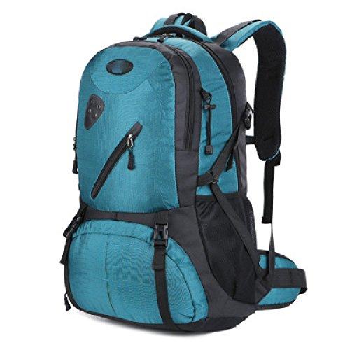 LQABW Outdoor-Nylon Wasserdichtes Haltbares Wandern Berg Beiläufiges Reduzierte Atmungsaktiv Rucksack Tasche Blue