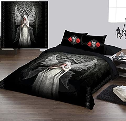 ONLY LOVE REMAINS - DUVET & PILLOW COVERS CASE SET UK KING / US QUEEN Art by Anne Stokes