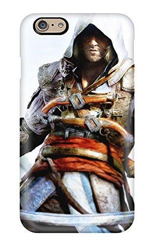 New Premium Flip Case Cover Assassin's Creed 4 Black Flag Xbox One Skin Case For Iphone 6 Flag Telefon