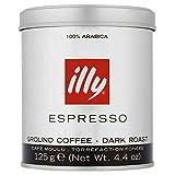 Illy Dark Ground Espresso Coffee 125 g