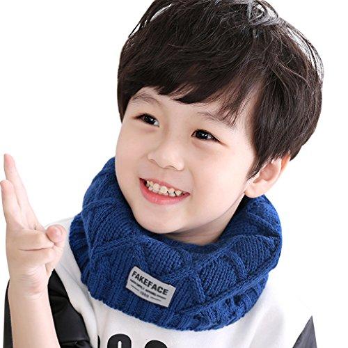 Kinder Schlauchschal Tuch Loopschal Loop gestrickt Rundschal Halstücher Winter Schal für 2-10 Jahre Baby Mädchen Jungen (Kinder-circle-schal)