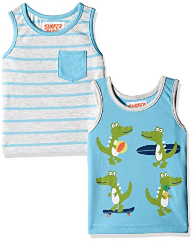 Mothercare Baby Boys' T-Shirt (Pack of 2)(HA472_Blue_18-24 M)