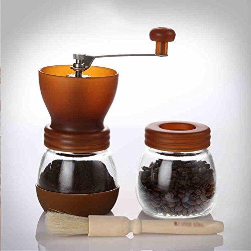 Machine de broyage/ménage grains de café de main meulage/combinaison réservoir scellé/moulin (2 couleurs en option) (couleur : A)
