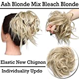 Extensions de cheveux Chignons Cheveux Chignon Chignon Caoutchouc Chouchou Chouchou VLUMINOUS Ondulé Blond cendré à Blond décoloré...