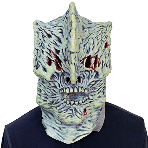 Womens Zombie Kostüm Killer - AKCHIUY Latex Kopf Und Hals Horror Maske, Mens Ladies Scary Killer Horror Film Halloween Kostüm Zubehör Maske,Unisex-OneSize