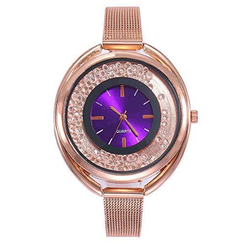 763a7ff5013b JiaMeng Damas Mujeres Pura Cara de Moda de Malla de Relojes Relojes de  Pulsera de Mujer