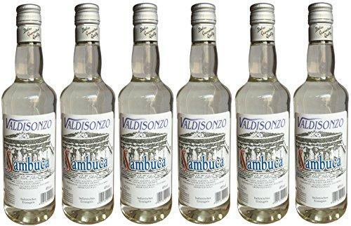 Sambuca Valdisonzo Liquore Italiano (6 X 0,7 L) - Italienischer Anis Likör 40% Vol.