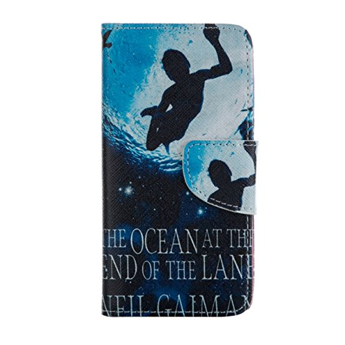 MOONCASE Étui pour Apple iPhone 6 / 6S (4.7 inch) Printing Series Coque en Cuir Portefeuille Housse de Protection à rabat Case Cover LD20 LD07 #0226