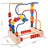 Leoie Children Early Educational Toy Classic Wooden Bead Maze Game For Boys And Girls