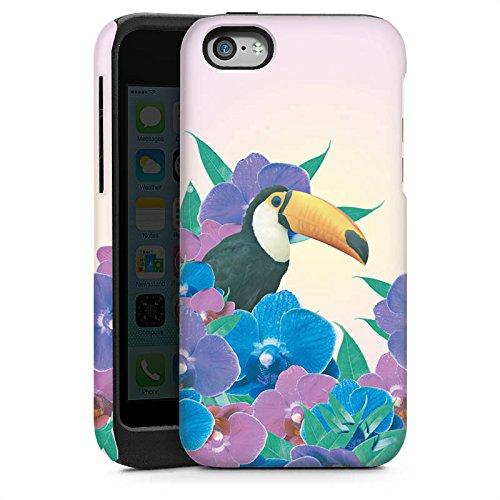 Apple iPhone 4 Housse Étui Silicone Coque Protection Perroquet Oiseau Tucan Cas Tough brillant