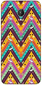 Snoogg Aztec Abstract Designer Protective Back Case Cover For Micromax Canvas Spark Q380