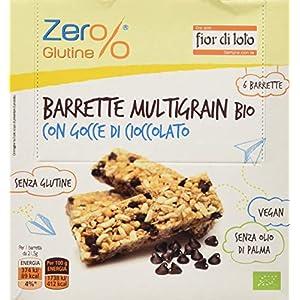 Fior Di Loto Barrette Multigrain con Gocce di Cioccolato, Senza glutine, 7 Confezioni da 130 g 1 spesavip