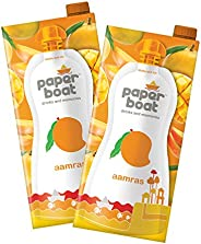 Paper Boat Aamras, Mango Fruit Juice, No Added Preservatives and Colours (Pack of 2, 1L Each)
