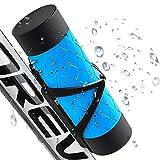 Wasserdichte Bluetooth Lautsprecher, tragbare drahtlose Fahrrad Spieluhr mit 12 Stunden Spielzeit, Unterstützung Micro SD-Karte spielen, spritzwassergeschützt, stoßfest und staubdicht für Outdoor-Reiten Wandern Klettern (blau)