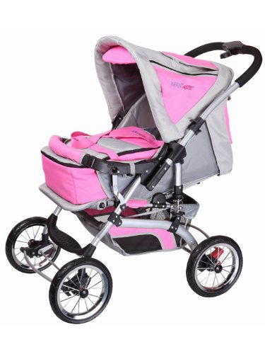 infantastic KDW02rosagrau Kombi Kinderwagen